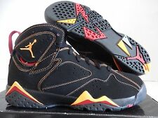 NIKE AIR JORDAN 7 RETRO (GS) BLACK-CITRUS SZ 6Y-WOMENS SZ 7.5 RARE! [304774-081]
