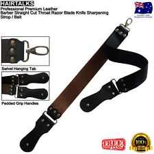 Premium Leather Barber Cut Throat Razor Knife Sharpening Strop / Belt, NEW