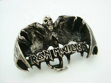 Iron Maiden Metal Pin Badge, Rock Heavy Metal Biker, Hells Angels Support 81