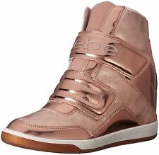 Bebe Women's Cobble Wedge Sneaker Walking Shoe Rose Gold/nude Pink 9 B(M) US