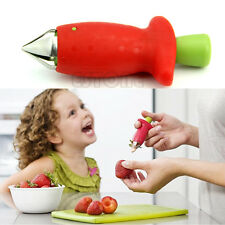 Tomato Strawberry Stem Leaves Huller Remover Removal Fruit Corer Kitchen Tool