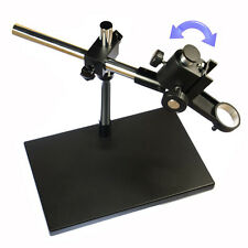 4kg Heavy Duty Dual-Arm Metal Boom Stereo Microscope Table Stand Holder Ring 5cm