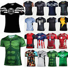 Comics SUPERHERO Herren Kurzarm T-shirt Sports Tops Biker Casual Shirt Laufshirt