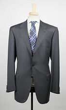 New. BRIONI Palatino Charcoal Gray Wool 3 Roll 2 Button Suit Size 54/44 L $6495