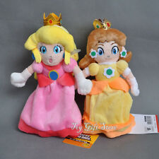 2 PCS New Super Mario Plush Doll Princess PEACH & DAISY 8""