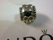 BN GENUINE PANDORA 14K GOLD & SILVER RETIRED MOTHER CHARM -790888CZS