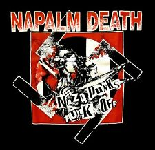 NAPALM DEATH cd cvr NAZI PUNKS F#CK OFF Official SHIRT XL new