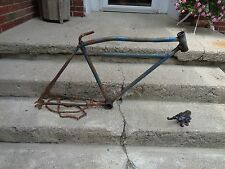 "PRE WAR ELGIN? ""ORIOLE""/OTHER MOTOR BIKE FRAME & PARTS BOYS FRAME MID 30'S GOOD"