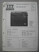 ITT/Schaub Lorenz Tiny electronic 107 Service Manual, K040