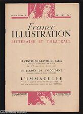 █ FRANCE ILLUSTRATION supplément théatral n° 5 : Le centre de gravité de Paris █