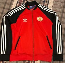 Adidas Originals Manchester United 1984 Retro Superstar Football Track Jacket XL