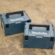 2 MAKITA MAKPAC CONNECTOR PLASTIC TOOL BOXES / CARRY CASES. TYPE 3