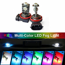 2PCS H10 RGB Multi Color LED Fog Light Driving DRL Purple Green Blue Red