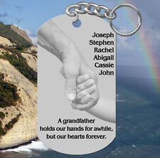 Hands, Fathers Day GRANDFATHER Keychain Gift, Personalized FREE w' kids names!