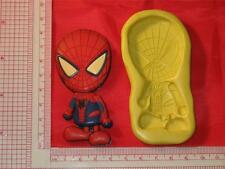 Marvel Spiderman 2D Silicone Push Mold Cake Resin Clay A694 Fondant DIY