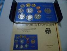 Germany 10pcs Coin Set 1997 Include 3pcs Commemorative 德国马克套币1997 10枚 含3枚2马克纪念币