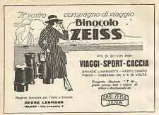 Y2776 Binoccoli ZEISS - Illustrazione - Pubblicità del 1922 - Old advertising