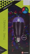 Gemmy LED Lightshow Time Tunnel Swirling Party Light Bulb Indoor Only NIB
