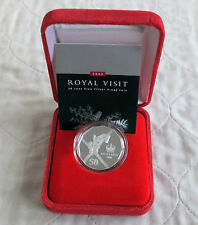 AUSTRALIA 2000 ROYAL VISIT 50 CENTS .999 FINE SILVER PROOF - boxed/coa