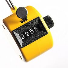 Digital Chrome Hand held Tally Clicker Counter 4 Digit Number Clicker Golf #8056