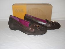 Dr Andrew Weil New Womens Florence Espresso Wedge Loafers 6 M Shoes