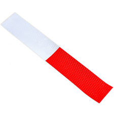 Nice 2X DIY Red-White Truck Safety Warning Night Reflective Strip Tape Stickers
