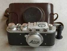 Leica II D Kriegsmarine copy chrome in leather case (FED-Zorki copy)