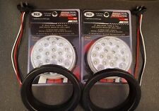 """(2) 19 LED Trux Dual Revolution 4"""" Round Clear Lens Stop Tail Turn Back-Up Kit"""