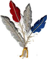 FEATHERS- SOUTHWEST-WESTERN- NATIVE AMERICAN-Iron On  Embroidered Patch