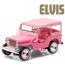 Greenlight 1960 Jeep Surrey CJ3B Elvis Presley 1:43 Pink 86472