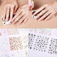 50x Sheets Nail Art Transfer Stickers 3D Design Manicure Tips Decal Decorations