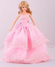 New Wholesale Handmade Pink The original soft clothes dress for barbies doll 68
