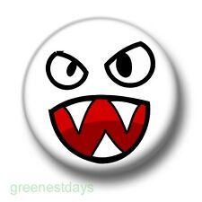 Scary Face 1 Inch / 25mm Pin Button Badge Emo Goth Indie Emoticon Smiley Creepy