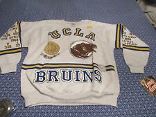 NWT VINTAGE LONG GONE BY GARAN UCLA BRUINS SWEATER CREW SIZE VERY RARE
