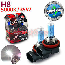 For NISSAN MICHIBA H8 35W 5000K Xenon WHITE Halogen Light Bulbs Front Fog Lamp