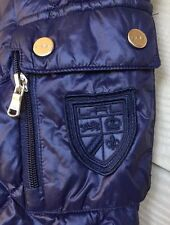 LAUREN RALPH LAUREN LADIES PACKABLE NAVY  QUILTED LONG DOWN COAT S SMALL Jacket