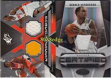 (2)2006 2010 SPX CERTIFIED JERSEY: GERALD HENDERSON #/599 BOBCATS 2 CARD LOT