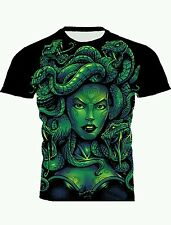 DOUBLE SIDE FULL PRINT MULTI COLOR MEDUSA MONSTER GRAPHIC ART TEE! All SIZES!