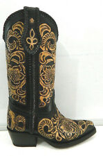 Hand tooled made order boots any size men or woman choose style from galery #