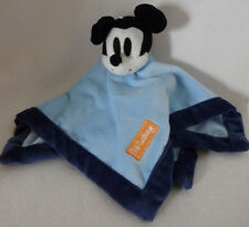 Disney Baby Mickey Mouse Plush Velour Navy Blue Security Blanket Lovey Boy Soft