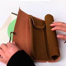 Roll Up Leatheroid Pouch Carrier Pencil Case Bag Holder Cosmetic Pouch Pocket