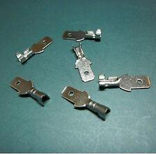 100pcs 6.3mm Crimp Terminal Male Spade Connector + Case