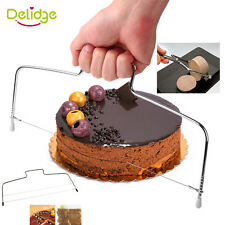 Stainless Steel Adjustable Wire Cake Slicer Leveler Slices Cake Cutter Tool