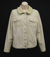 GAP Beige Corduroy Cotton Trucker Jacket Sherpa Lined Jean Style Women S Small