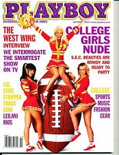 """""""PLAYBOY"""" (12-PAGES / COLLEGE GIRLS)  ~ OCTOBER 2001 ~  *** VINTAGE ISSUE ***"""