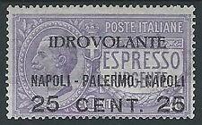 1917 REGNO POSTA AEREA NAPOLI PALERMO MH * - ED1062