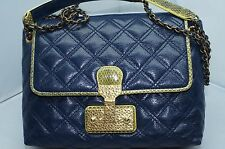 Marc Jacobs The Large Single Blue Bag Crossbody Shoulder Handbag Leather NWT