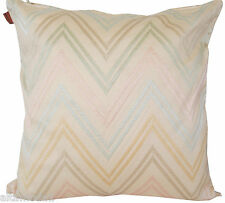 MISSONI 100% GLOSSY COTTON SATEEN EMBROIDERED PILLOW COVER JAYLIN 213 NO FILLING