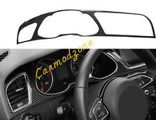 Carbon Fiber Interior Dashboard Meter Cover Trim  1PCS for Audi A4 B8 2008-2015