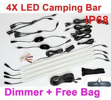 4X Rigid Bar 12V Linkable 50cm LED Camping Kit bag RV Camper Cabinet Strip Light